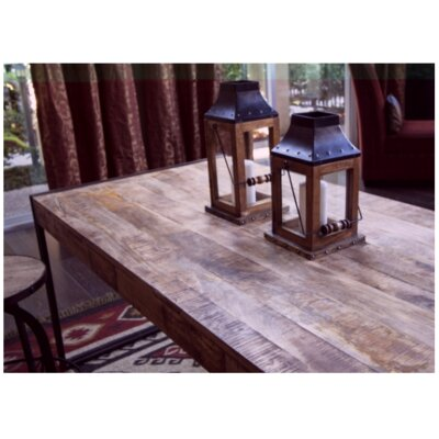 Whitetop Dining Table Top Finish: Sawn Mango