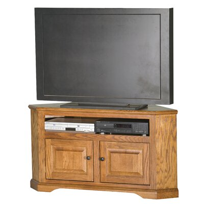 Glastonbury TV Stand Finish: Lite Oak, Door Type: Wood Panel