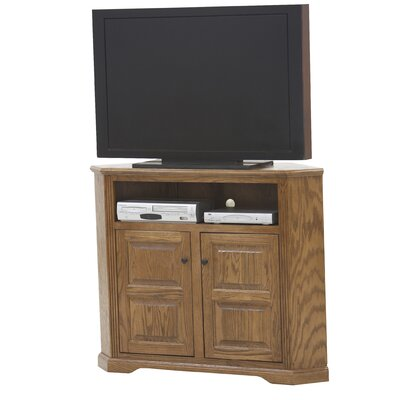Glastonbury 50.3 TV Stand Door Type: Plain Glass, Color: Medium Oak