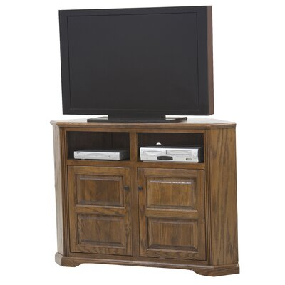 Glastonbury 57 TV Stand Door Type: Plain Glass, Color: Dark Oak