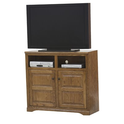 Glastonbury 45.5 TV Stand Door Type: Plain Glass, Color: Medium Oak
