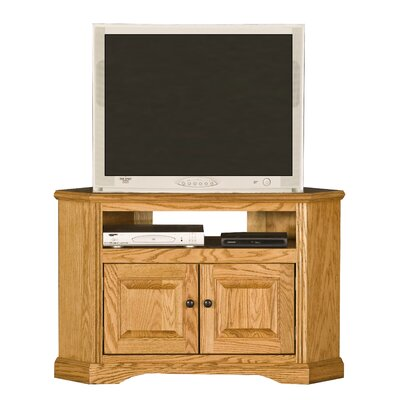 Glastonbury TV Stand Finish: Concord Cherry, Door Type: Wood Panel