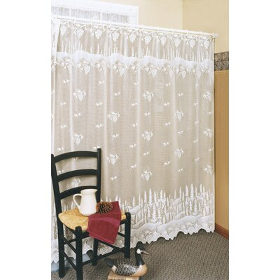 Lakewood Shower Curtain Color: White
