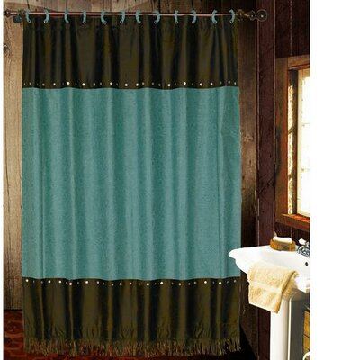 Applewood Shower Curtain Color: Turquoise