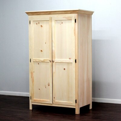 Wade Panel Door Armoire Finish: Natural Teak