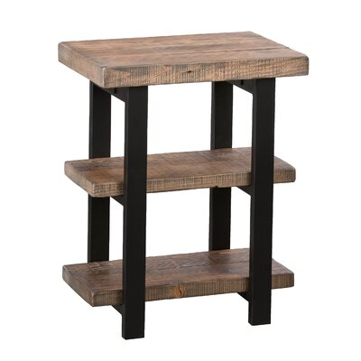 Somers 2-Shelf Reclaimed Wood/Metal End Table