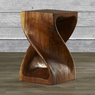 Pelley Twist End Table Size: 18 H x 12 W