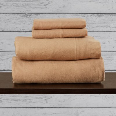 Agrihan 100% Cotton Sheet Set Size: Full, Color: Cashmere