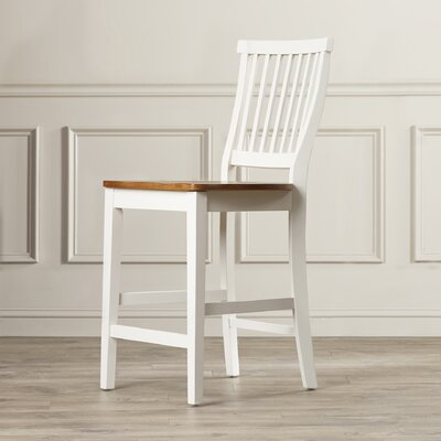 Parkerton 24 Bar Stool Frame Finish: White