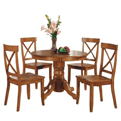 Parkerton 5 Piece Dining Set Finish: Cottage Oak