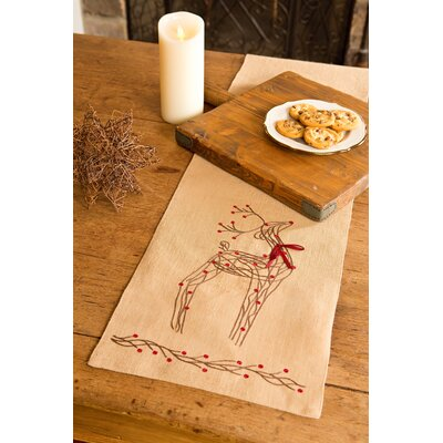"Uncompahgre Jute Christmas Table Runner Size: 0.2"" H x 13"" W x 72"" D"