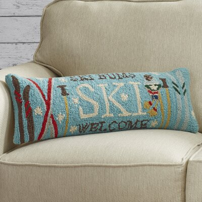 Central City Welcome Ski Hook Wool Throw Pillow