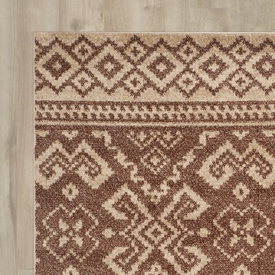 St. Ann Highlands Camel/Chocolate Area Rug Rug Size: Square 8