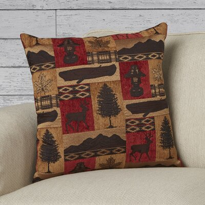 Merrill Throw Pillow Color: Red