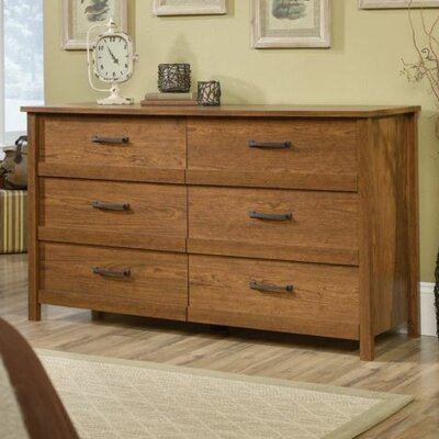 Sunlight Spire 6 Drawer Double Dresser Color: Milled Cherry