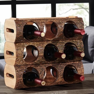 Hood River 3 Bottle Tabletop Wine Rack