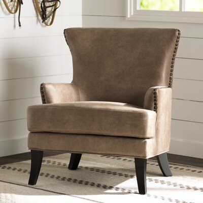 Teran Wingback Chair Upholstery: Nougat Beige