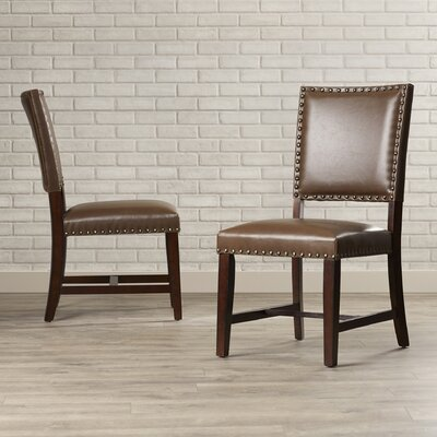 Glasgow Parsons Chair (Set of 2) Finish: Warm Tobacco