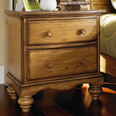 Harlowton 2 Drawer Nightstand