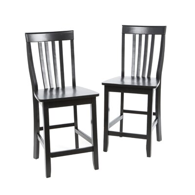 Churchill 24 Bar Stools Finish: Black