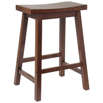 Jefferson 24 Bar Stool Finish: Walnut