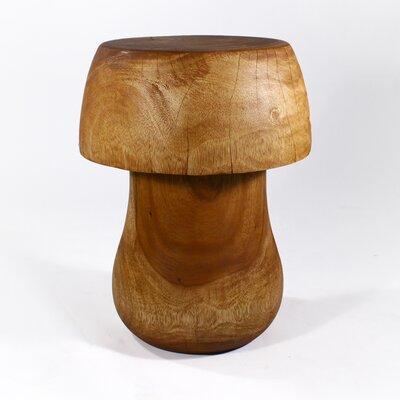 Goosenest Mushroom End Table Size: 18
