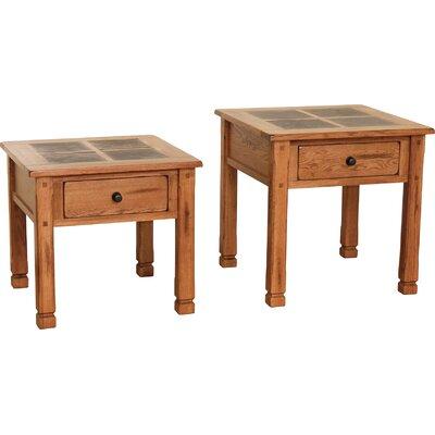 Fresno End Table Size: 24 H x 26 W x 26 D