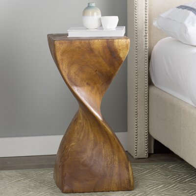 Emerfield Single Twist End Table Color: Livos Black Walnut Oil