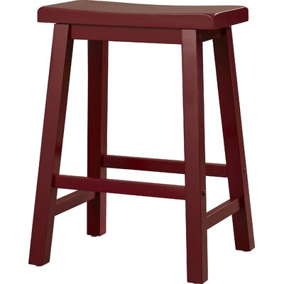 Forsyth 24 Bar Stool Finish: Crimson Red