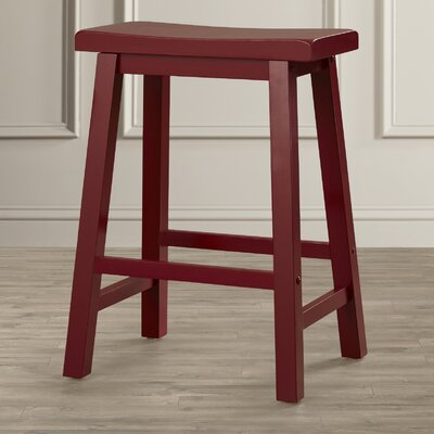 Forsyth 24 inch Bar Stool Finish: Crimson Red