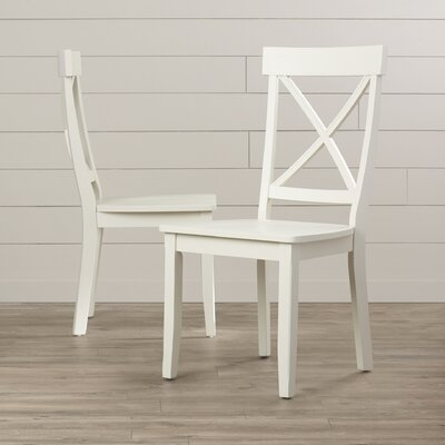 Parkerton Solid Wood Dining Chair Finish: Creamy White