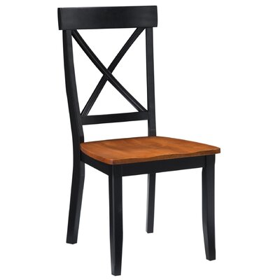 Parkerton Solid Wood Dining Chair Finish: Black / Oak