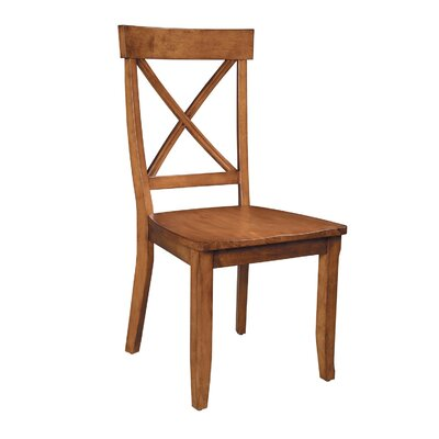 Parkerton Solid Wood Dining Chair Finish: Cottage Oak