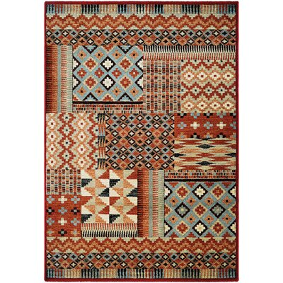 Alden Brown/Beige Area Rug Rug Size: 5'3