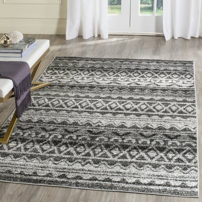 St. Ann Highlands Ivory/Charcoal Area Rug Rug Size: Rectangle 9 x 12