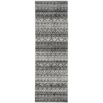 St. Ann Highlands Ivory/Charcoal Area Rug Rug Size: Runner 26 x 6