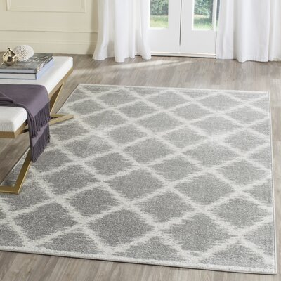 St. Ann Highlands Silver/Ivory Area Rug Rug Size: Rectangle 4 x 6