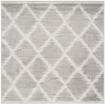 St. Ann Highlands Silver/Ivory Area Rug Rug Size: Square 6