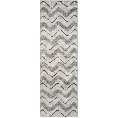 St. Ann Highlands Silver/Charcoal Area Rug Rug Size: Runner 26 x 12