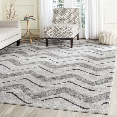 St. Ann Highlands Silver/Charcoal Area Rug Rug Size: Rectangle 4 x 6