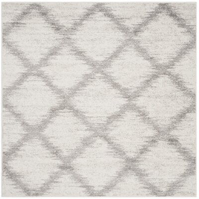 St. Ann Highlands Ivory/Silver Area Rug Rug Size: Square 6