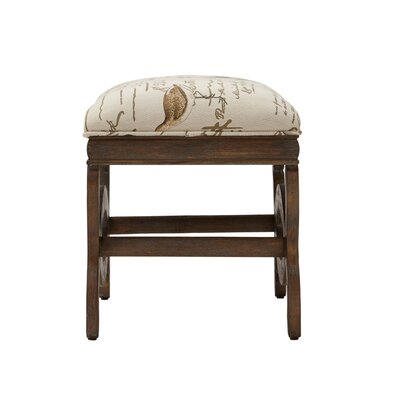 Condon Exposed Wood Ottoman