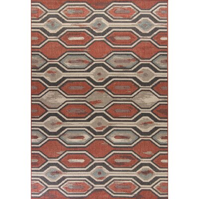 Condon Rust Indoor/Outdoor Area Rug Rug Size: 67 x 96