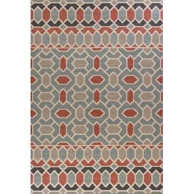 Furniture-Loon Peak Condon Blue Indoor Outdoor Area Rug