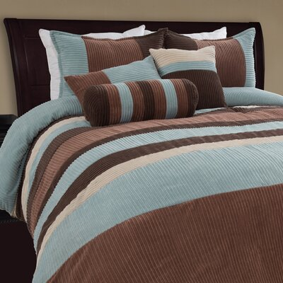 Mustang Piece Comforter Set Size: Full, Color: Blue