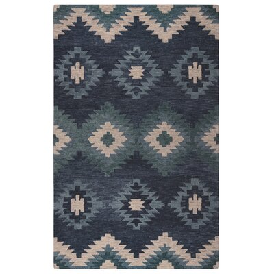 Harrison Hand-Tufted Blue Area Rug Size: Rectangle 5 x 8