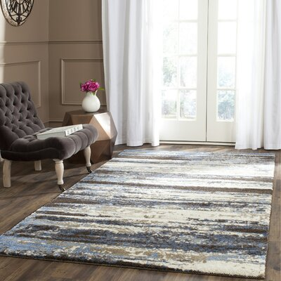 Pine Brook Hill Cream / Blue Area Rug Rug Size: 26 x 4