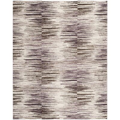 La Veta Light Brown/Eggplant Area Rug Rug Size: 4 x 6