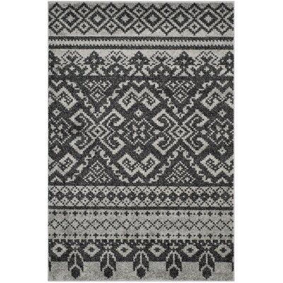 Massanutten Silver/Black Area Rug Rug Size: 51 x 76