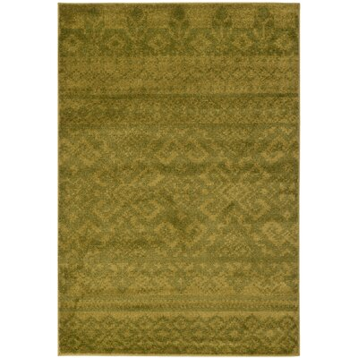 St. Ann Highlands Green Area Rug Rug Size: 51 x 76